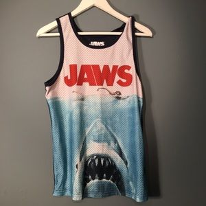 Other - JAWS Graphic Tank Top Like New Small Navy Shark